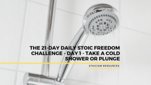 The 21-Day Daily Stoic Freedom Challenge – Day 1 – Take A Cold Shower Or Plunge