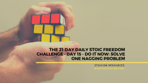 The 21-Day Daily Stoic Freedom Challenge – Day 15 – Do It Now: Solve One Nagging Problem