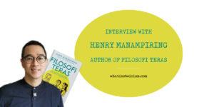 Interview With Henry Manampiring – Author of Filosofi Teras